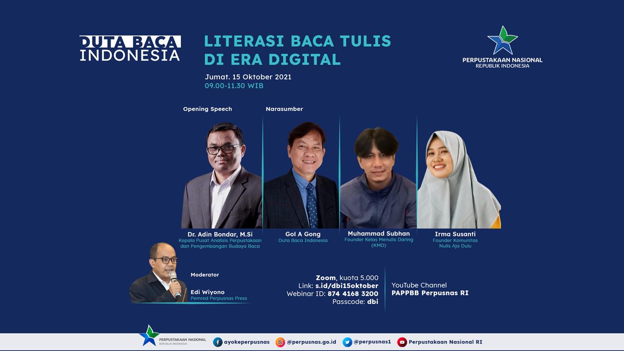 Sertifikat e-Sertifikat Webinar Duta Baca Indonesia Literasi Baca Tulis Di Era Digital 15 Oktober 2021